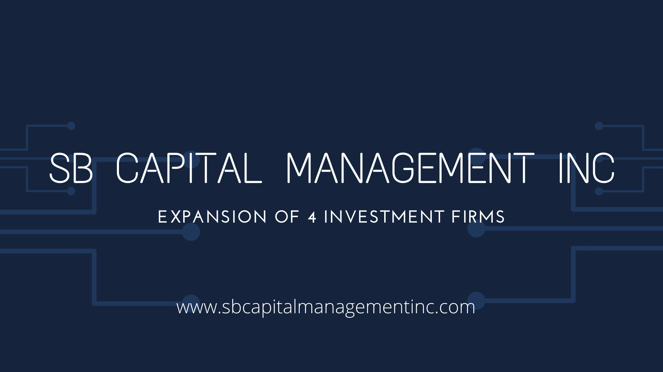 Expansion Of SB Capital Management